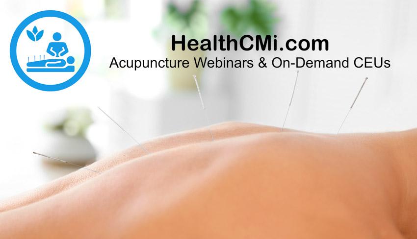 Acupuncture CEU Live Webinars Announced