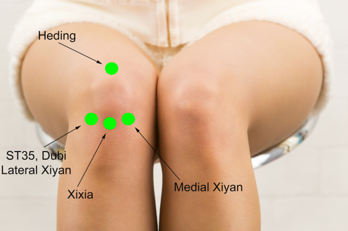knee acupuncture points