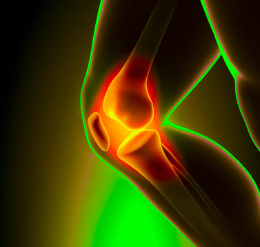Patellar malfunction is corrected with acupoint stimulation.