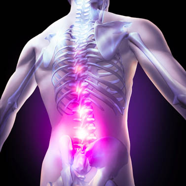Sciatics induces lower back and hip pain.