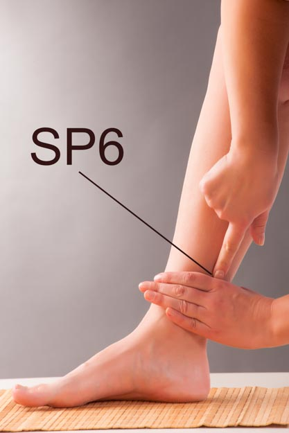 SP6 is 3 cun above the medial malleolus.
