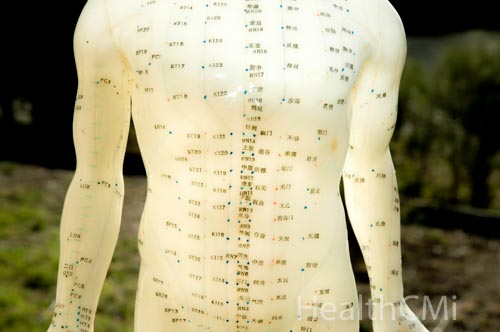 Model of body abdominal points are illustrated.