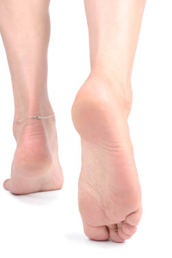 The ankles and achilles tendons are shown.