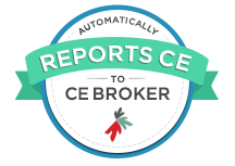Automatically reports to CE Broker.