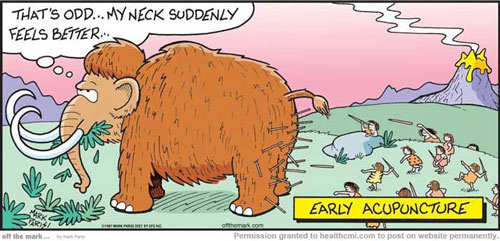 A humorous look at acupuncture is viewed here.