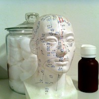 Scalp acupuncture uses DU20.
