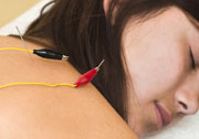 Electroacupuncture is demonstrated here.