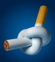 Acupuncture protects the lungs from damage due to cigarettes.