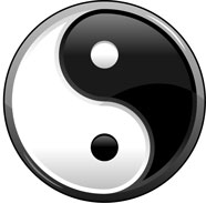 The Yin Yang symbol reflects the nature of the universe.